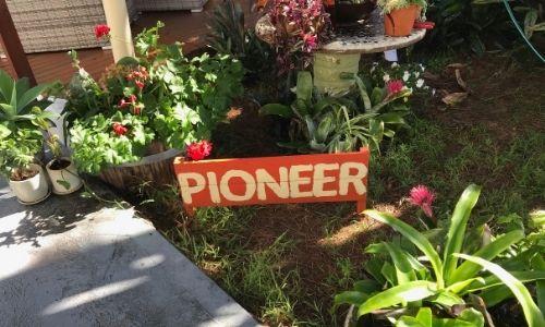 Pioneer signpost garden